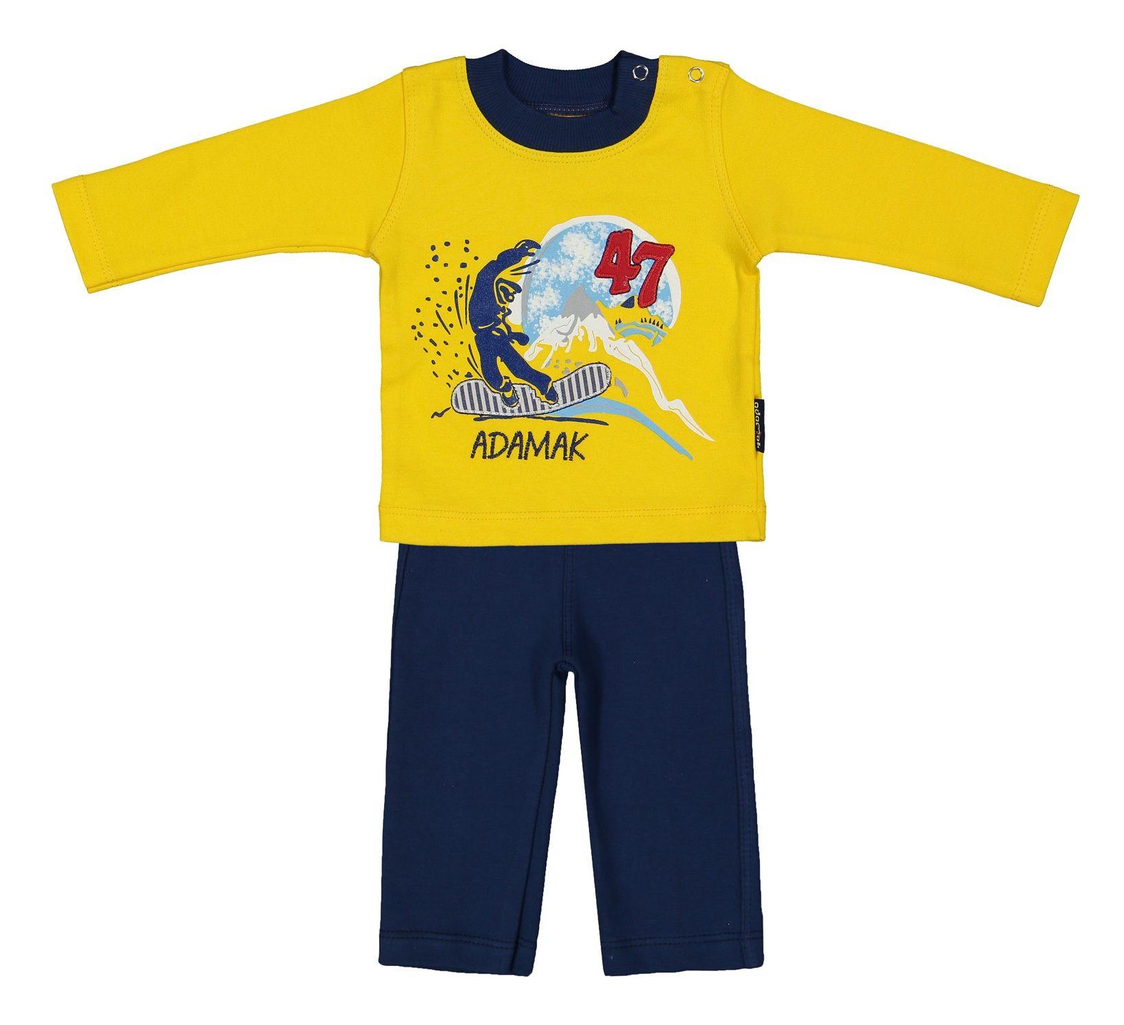 ست تی شرت و شلوار نوزادی پسرانه آدمک مدل 2171100-16