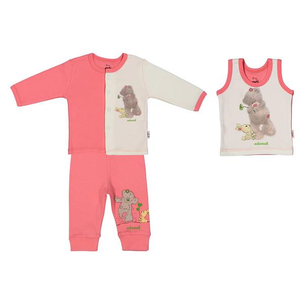 ست 3 تکه نوزادی دخترانه آدمک مدل 2171106-84