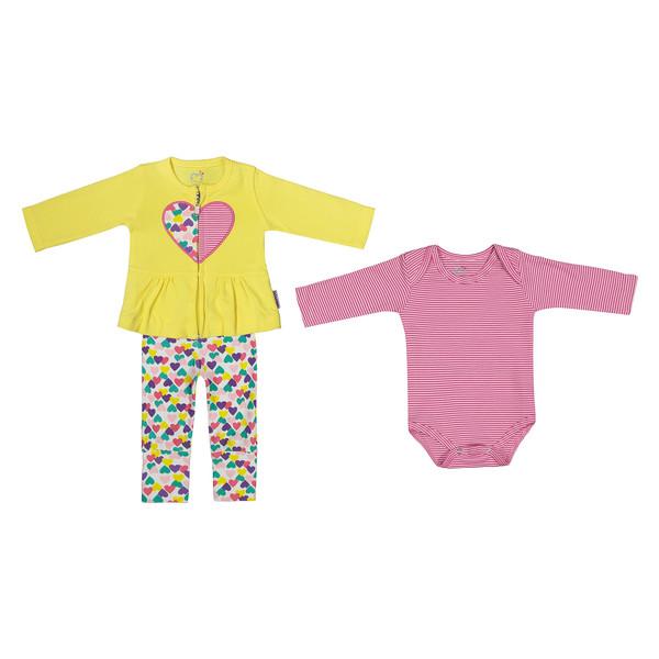 ست 3 تکه نوزادی دخترانه آدمک مدل 2171104-19