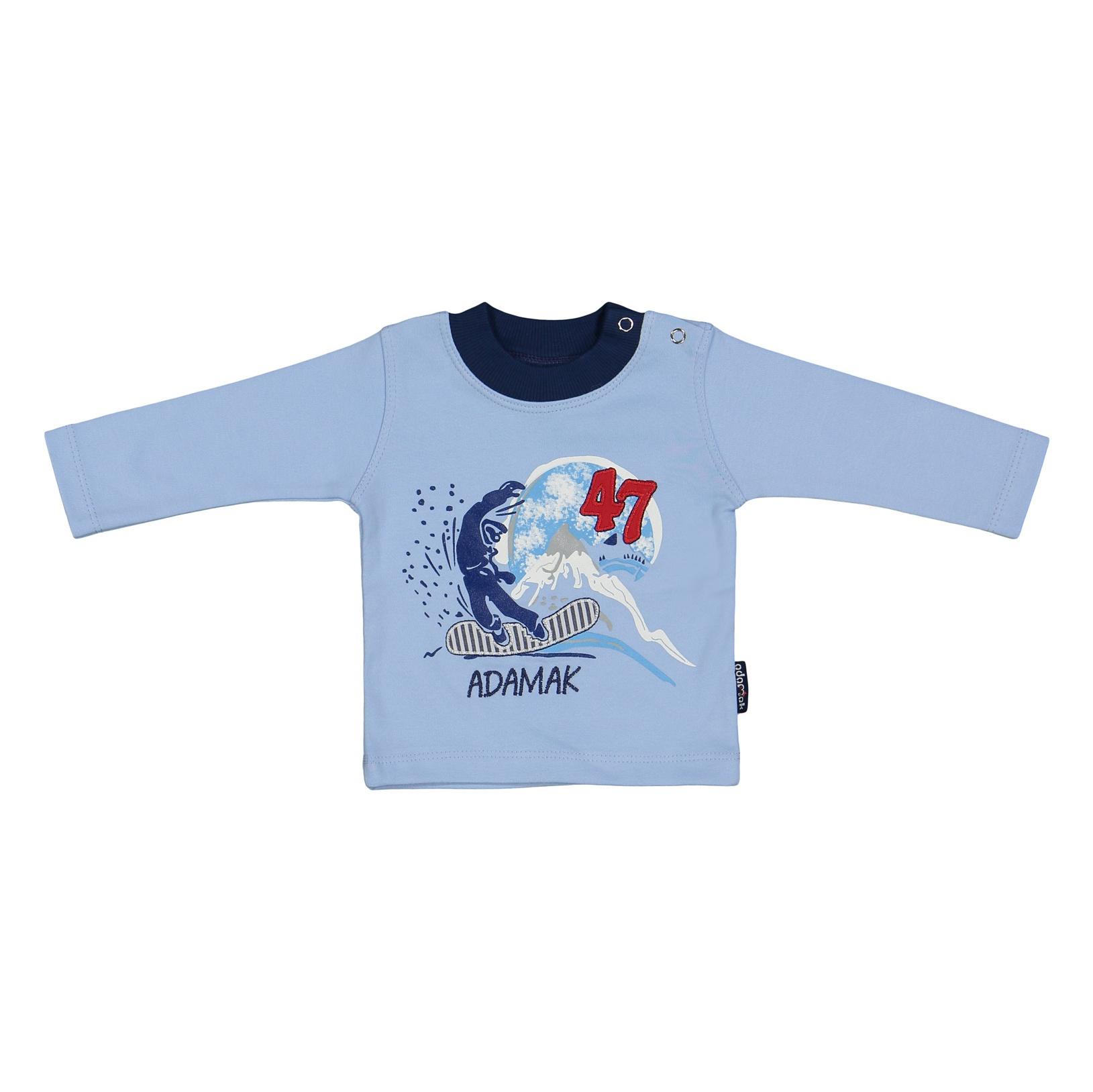 ست تی شرت و شلوار نوزادی پسرانه آدمک مدل 2171100-50