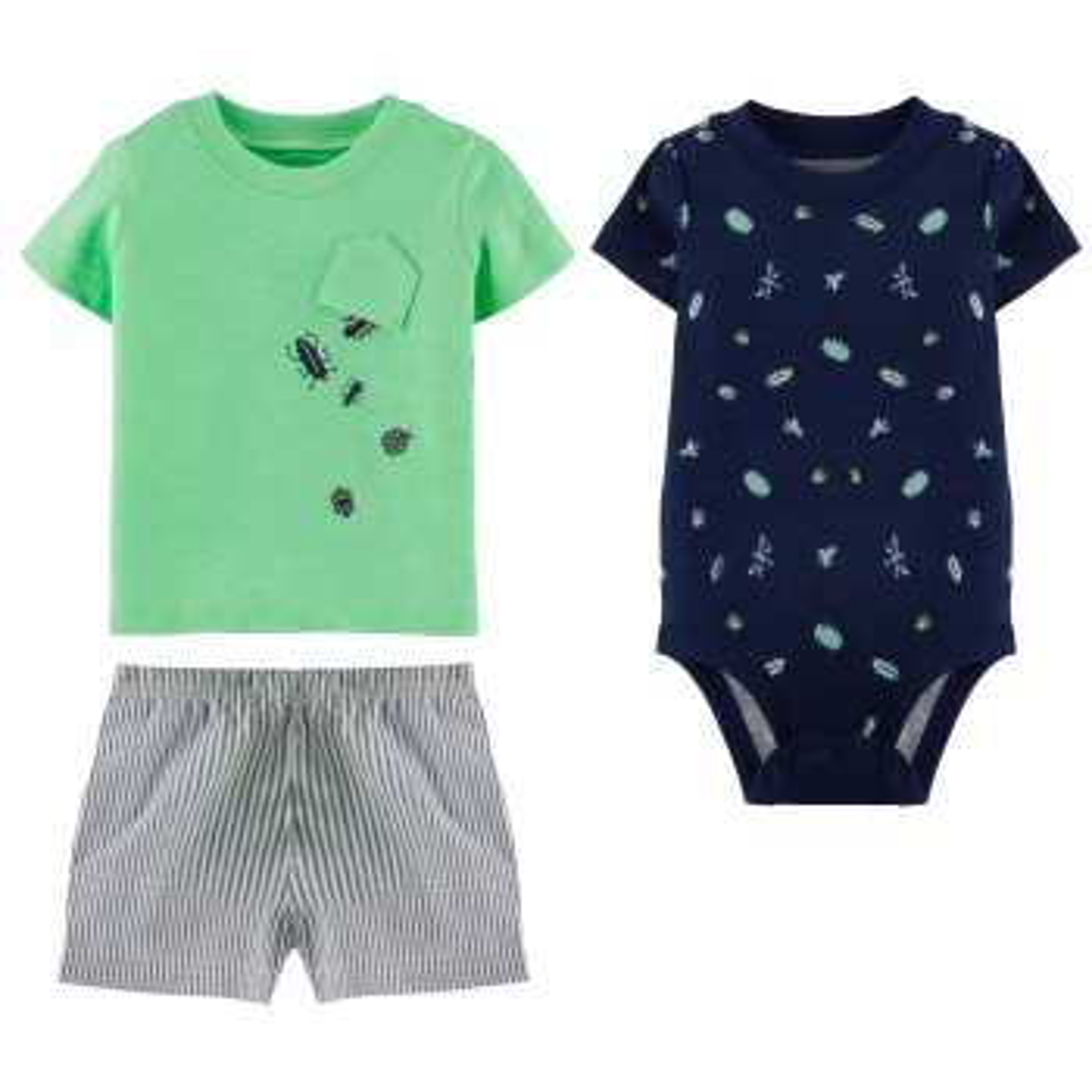 ست 3 تکه لباس نوزادی پسرانه کارترز کد 1182