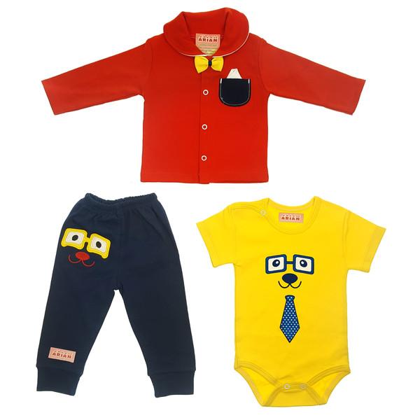 ست 3 تکه لباس نوزادی پسرانه  کد t77285493    -1410983578765