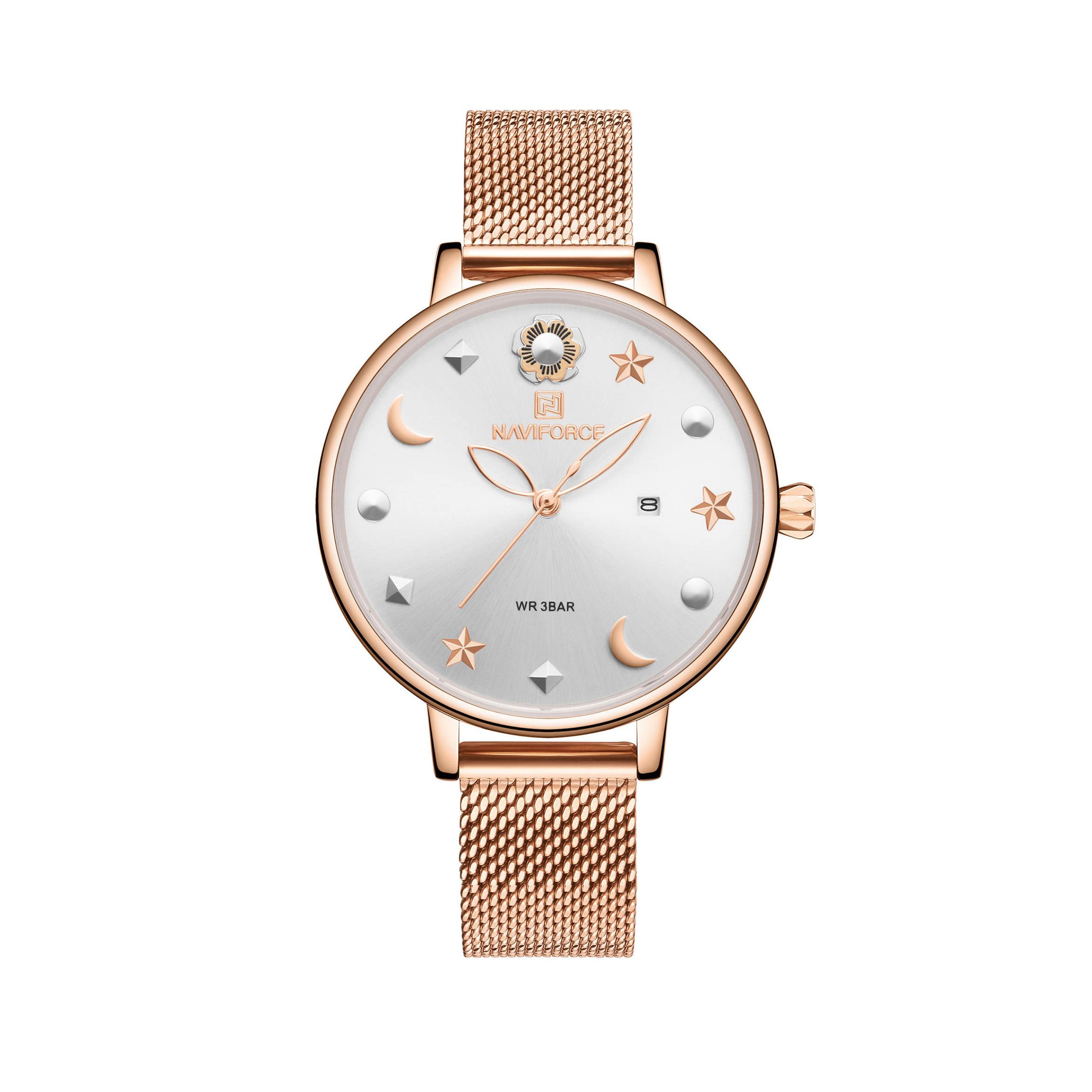 ساعت مچی عقربه ای زنانه نیوی فورس مدل NF5009RGW              خرید (⭐️⭐️⭐️)