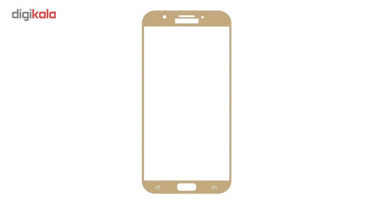 محافظ صفحه نمایش شیشه ای تمپرد مدل Full Cover مناسب برای گوشی موبایل سامسونگ Galaxy A7 2017 main 1 1