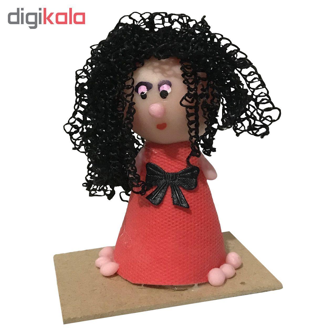 عروسک طرح دختر موفرفری مدل RM-6979