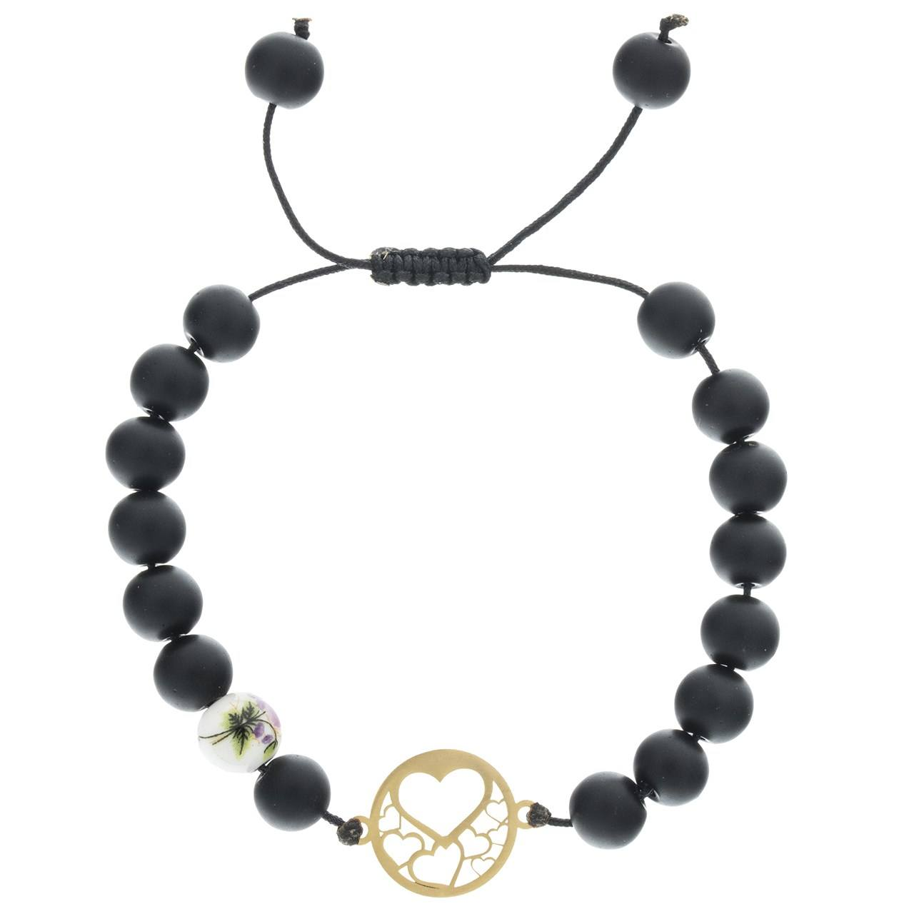 دستبند طلا 18 عیار ماهک مدل MB0311 -  - 1