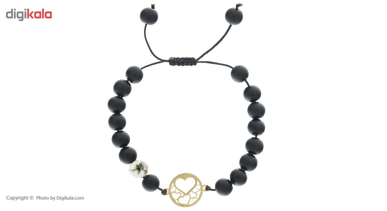 دستبند طلا 18 عیار ماهک مدل MB0311 -  - 2