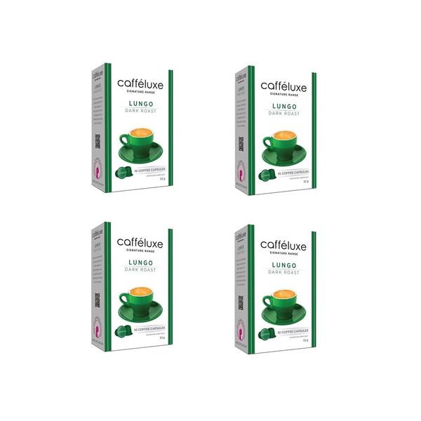 کپسول قهوه دستگاه نسپرسو کافه لوکس مدل   Dark Roast Lungo-مجموعه 4 جعبه