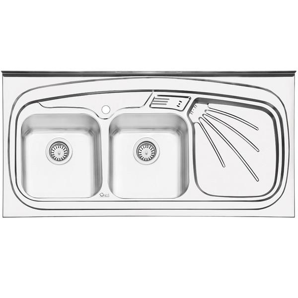 سینک ایلیا استیل مدل 3013L روکار سایز 60 × 120 سانتی متر