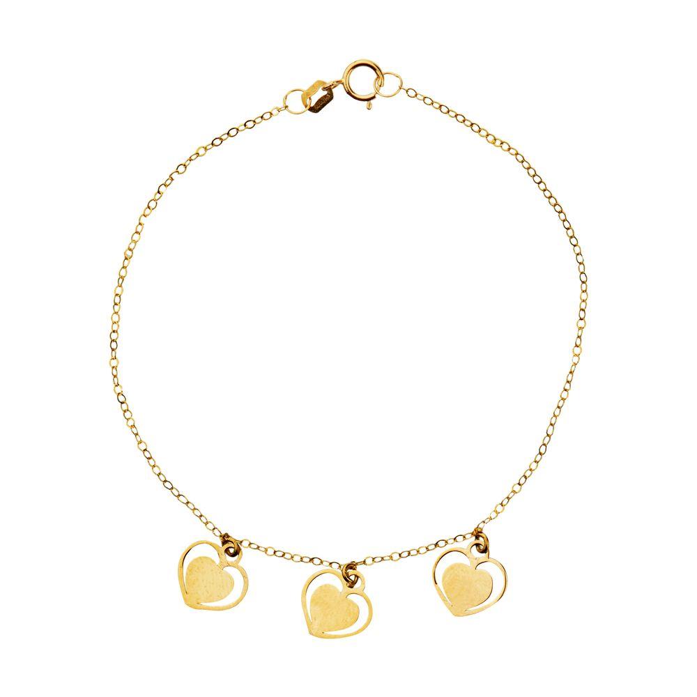 دستبند طلا 18 عیار زنانه میو گلد مدل GD605