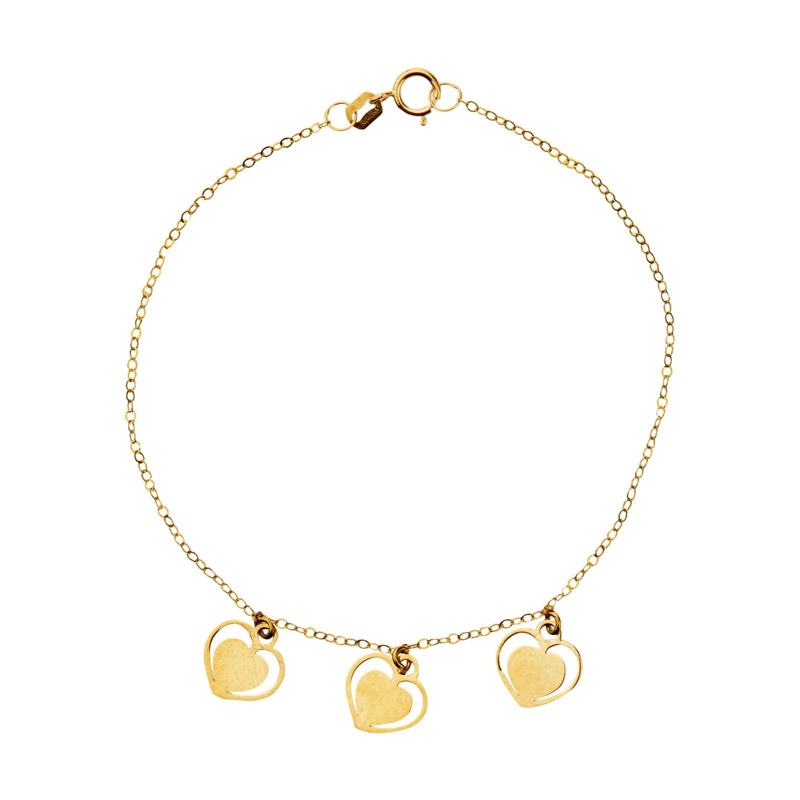 دستبند طلا 18 عیار زنانه میو گلد مدل GD605 -  - 2