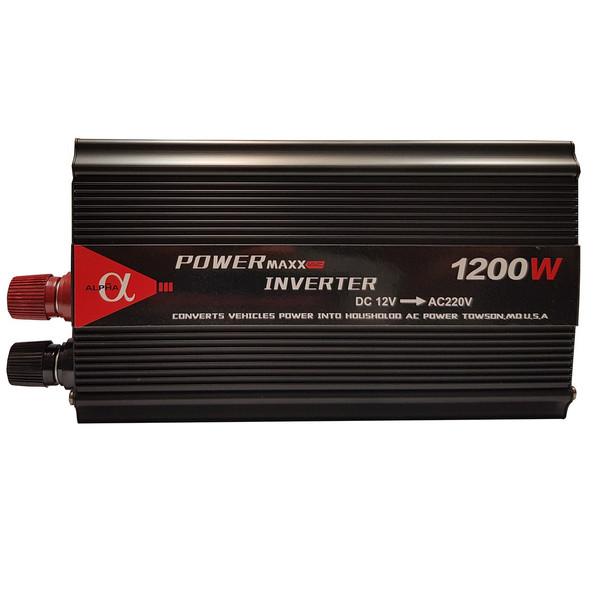 مبدل برق خودرو آلفا مدل 12V-TO-220V-1200W