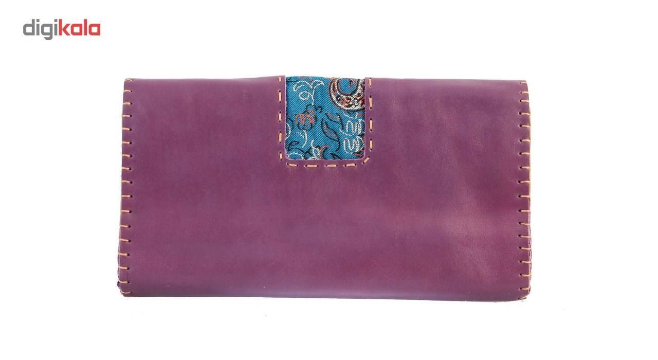 کیف دستی چرم طبیعی گالری راد طرح ماهور -  - 3