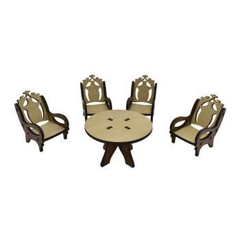 ماکت دکوری طرح میز و صندلی کد02 مجموعه 5 عددی