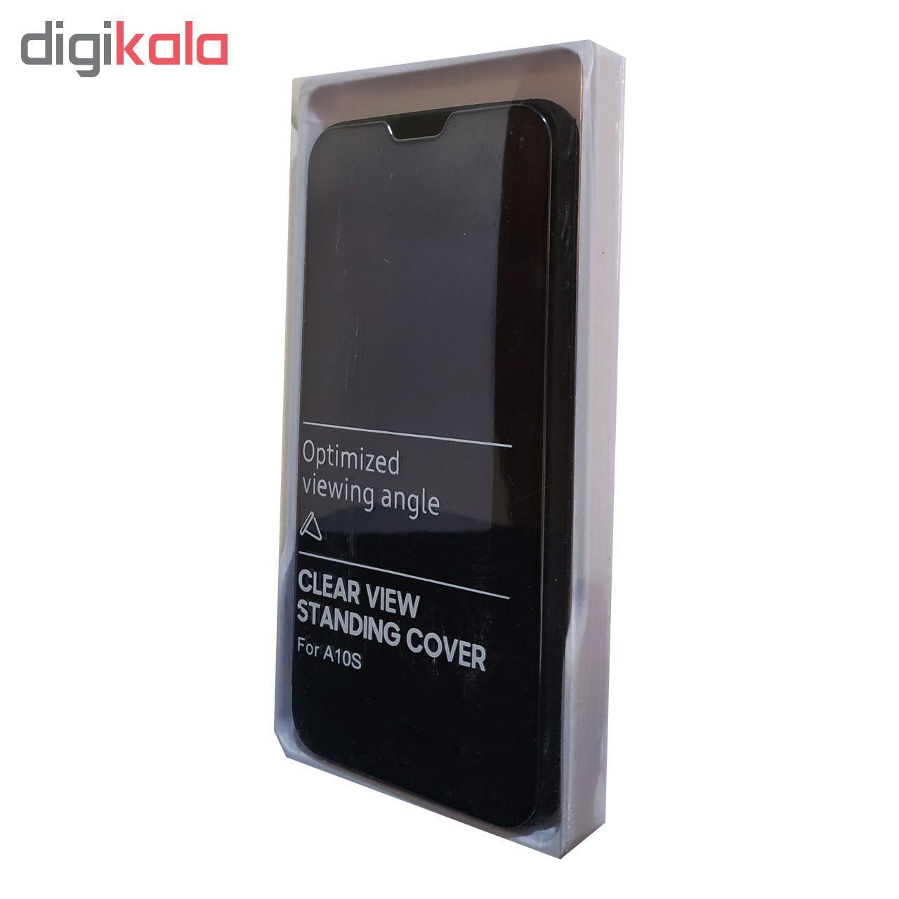 کیف کلاسوری مدل Clear View Standing مناسب برای گوشی موبایل سامسونگ Galaxy A10s