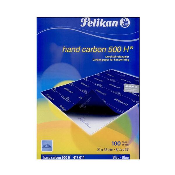 کاغذ کاربن آبی مدل پلیکان  سایز A4 _  بسته 100 عددی