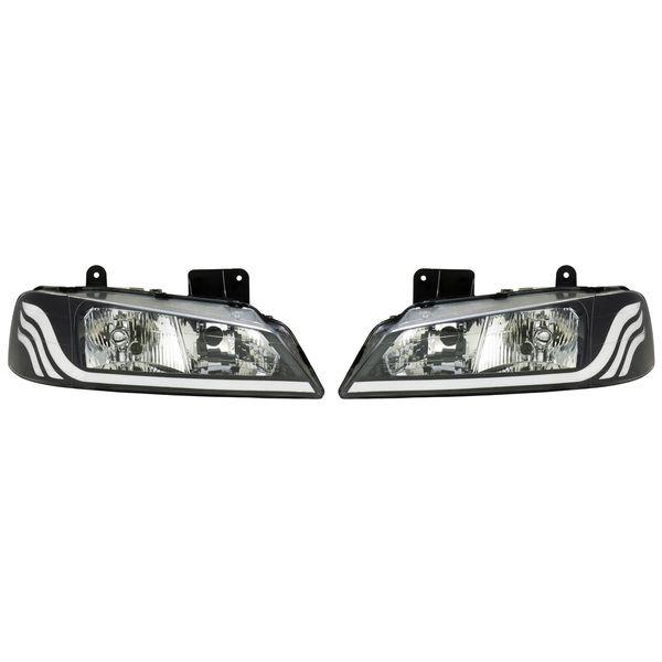 چراغ جلو خودرو مدل SH01 مناسب برای پژو پارس بسته دو عددی