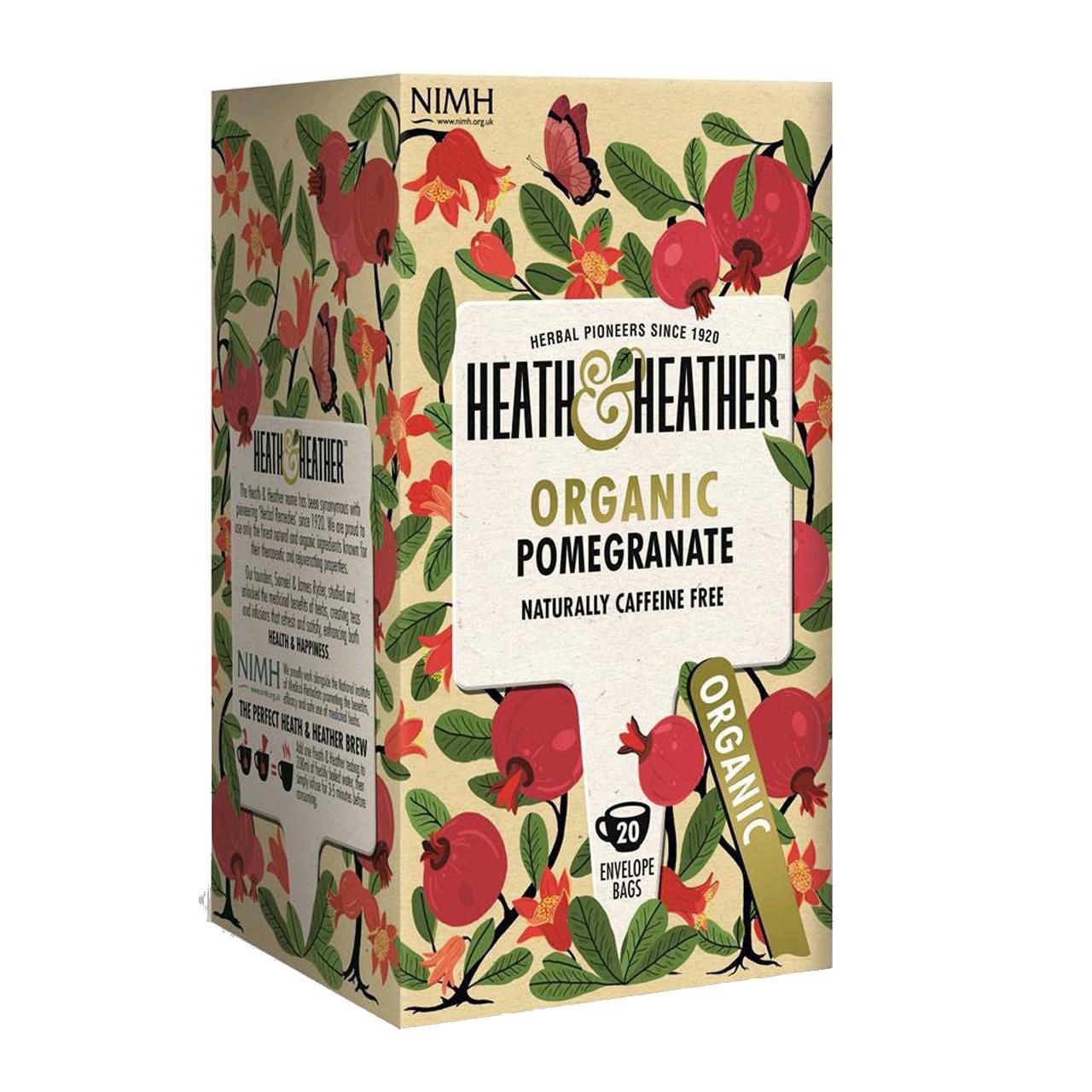 بسته دمنوش هیت و هیتر مدل Organic Pomegranate