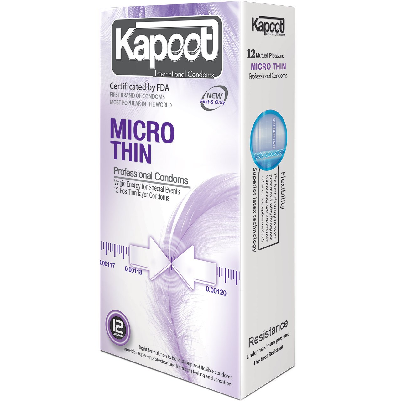 کاندوم کاپوت مدل Micro Thin بسته 12 عددی