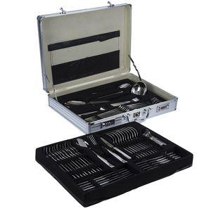 سرویس 92 پارچه قاشق و چنگال کارل اشمیت مدل C Sapor طرح جعبه آلومینیومی