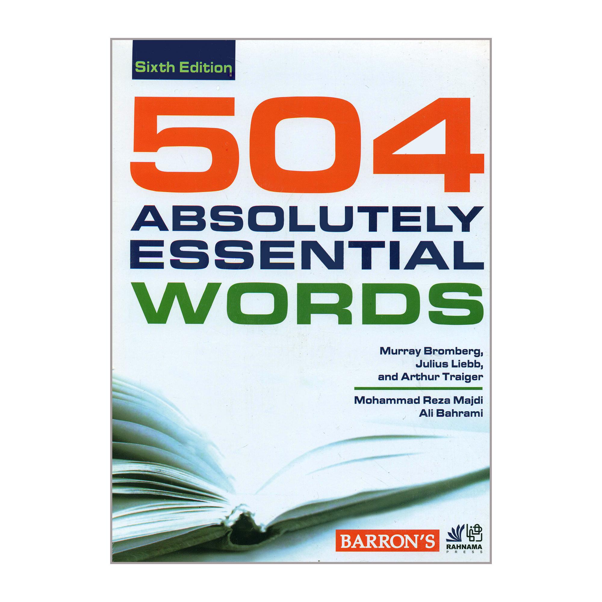 خرید                      کتاب 504 ABSOLUTELY ESSENTIAL WORDS اثر جمعی از نویسندگان انتشارات رهنما