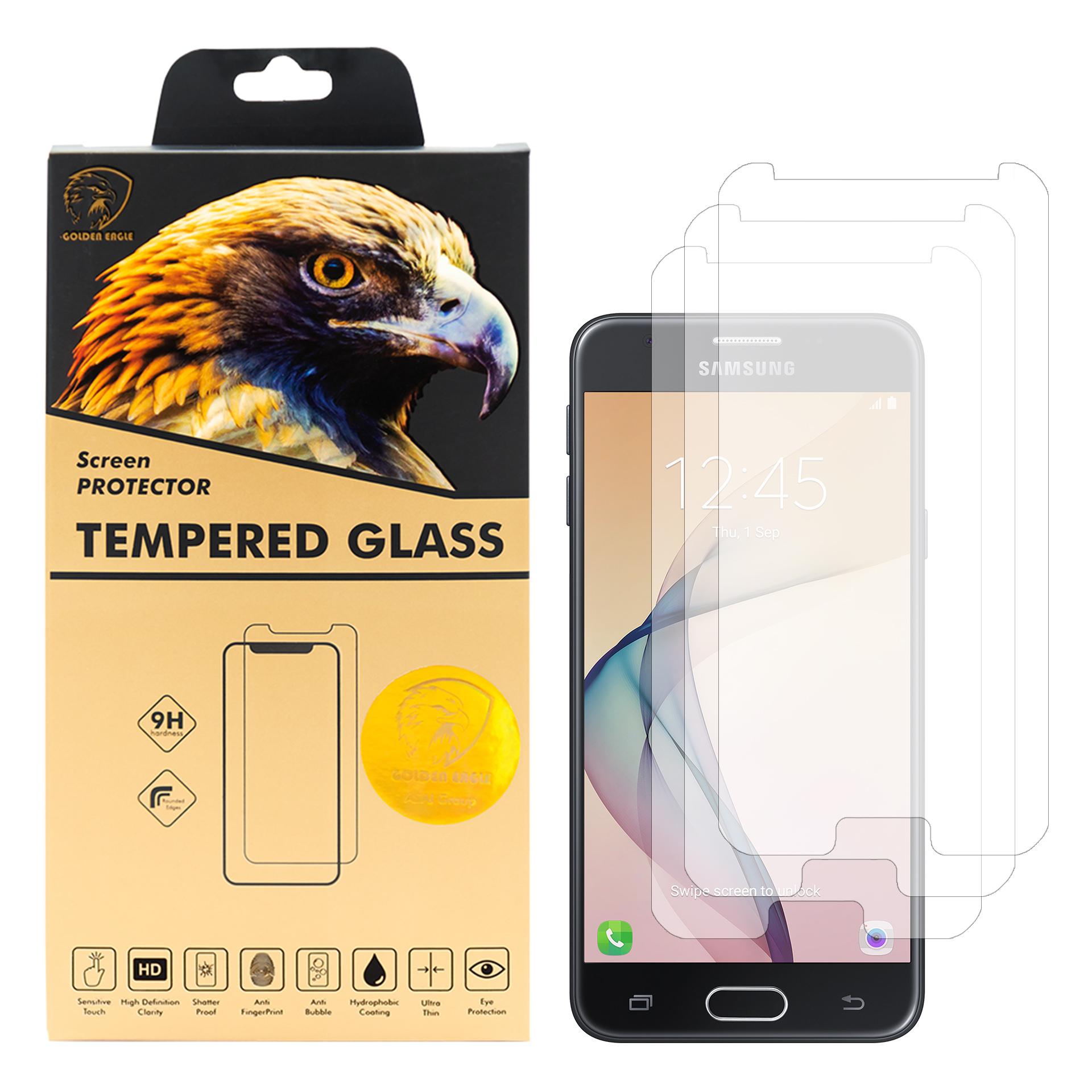 محافظ صفحه نمایش گلدن ایگل مدل GLC-X3 مناسب برای گوشی موبایل سامسونگ Galaxy J5 Prime بسته سه عددی