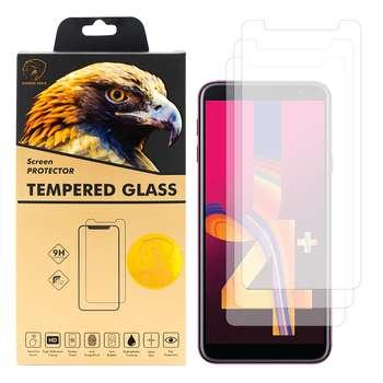 محافظ صفحه نمایش گلدن ایگل مدل GLC-X3 مناسب برای گوشی موبایل سامسونگ Galaxy J4 Plus بسته سه عددی