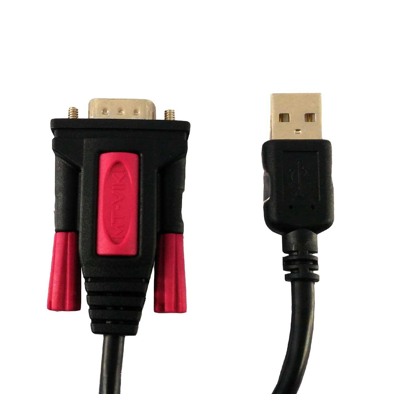 کابل تبدیل USB به سریال RS232 ام تی ویکی مدل MT-3001 طول 1.5 متر