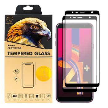 محافظ صفحه نمایش گلدن ایگل مدل DFC-X2 مناسب برای گوشی موبایل سامسونگ  Galaxy J4 Plus بسته دو عددی