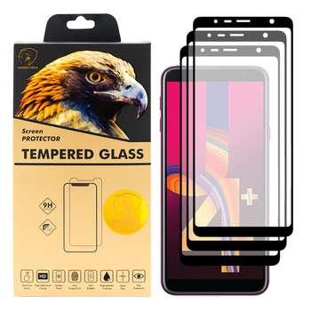 محافظ صفحه نمایش گلدن ایگل مدل DFC-X3 مناسب برای گوشی موبایل سامسونگ Galaxy J4 Plus بسته سه عددی