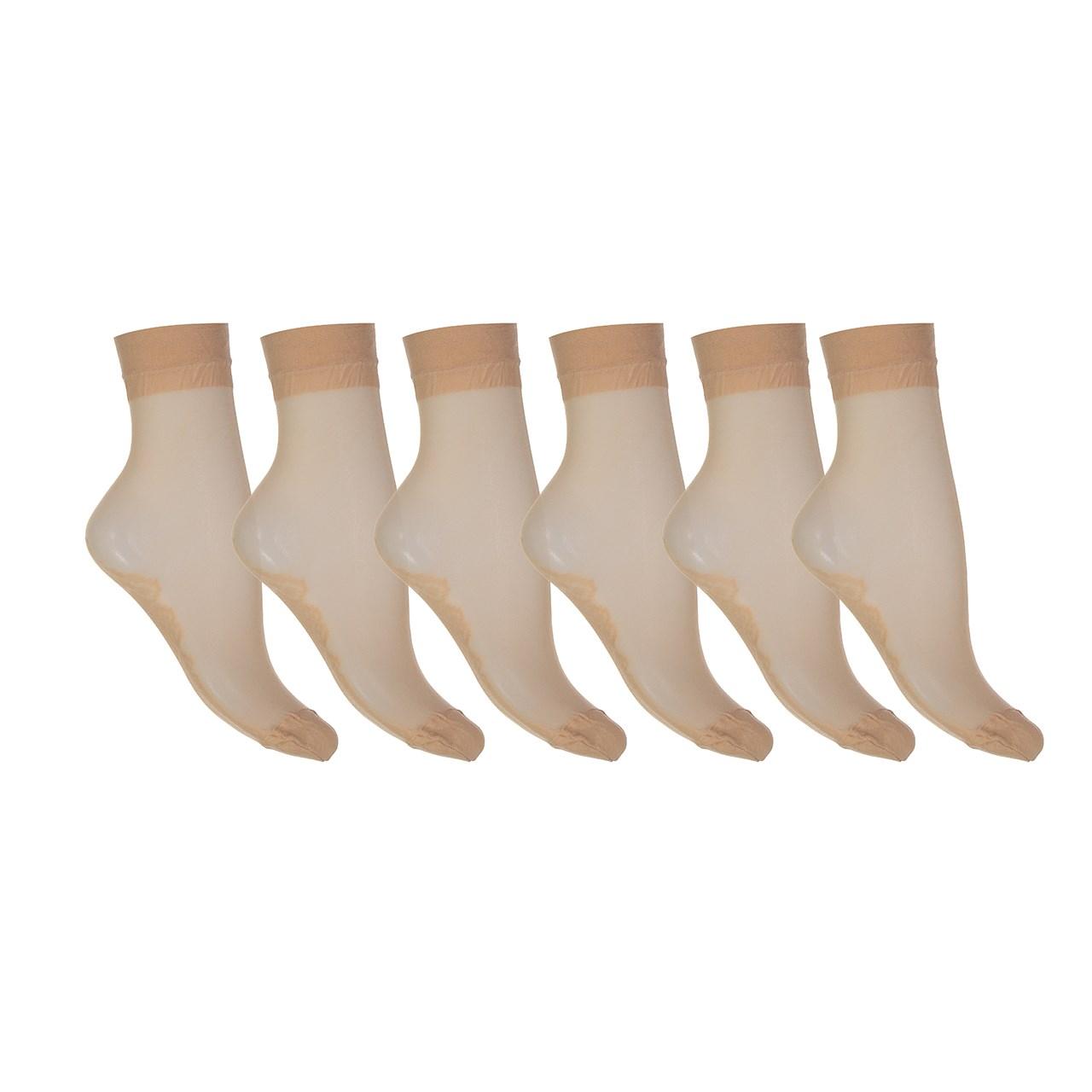 جوراب زنانه مدل CL891 بسته 6 عددی