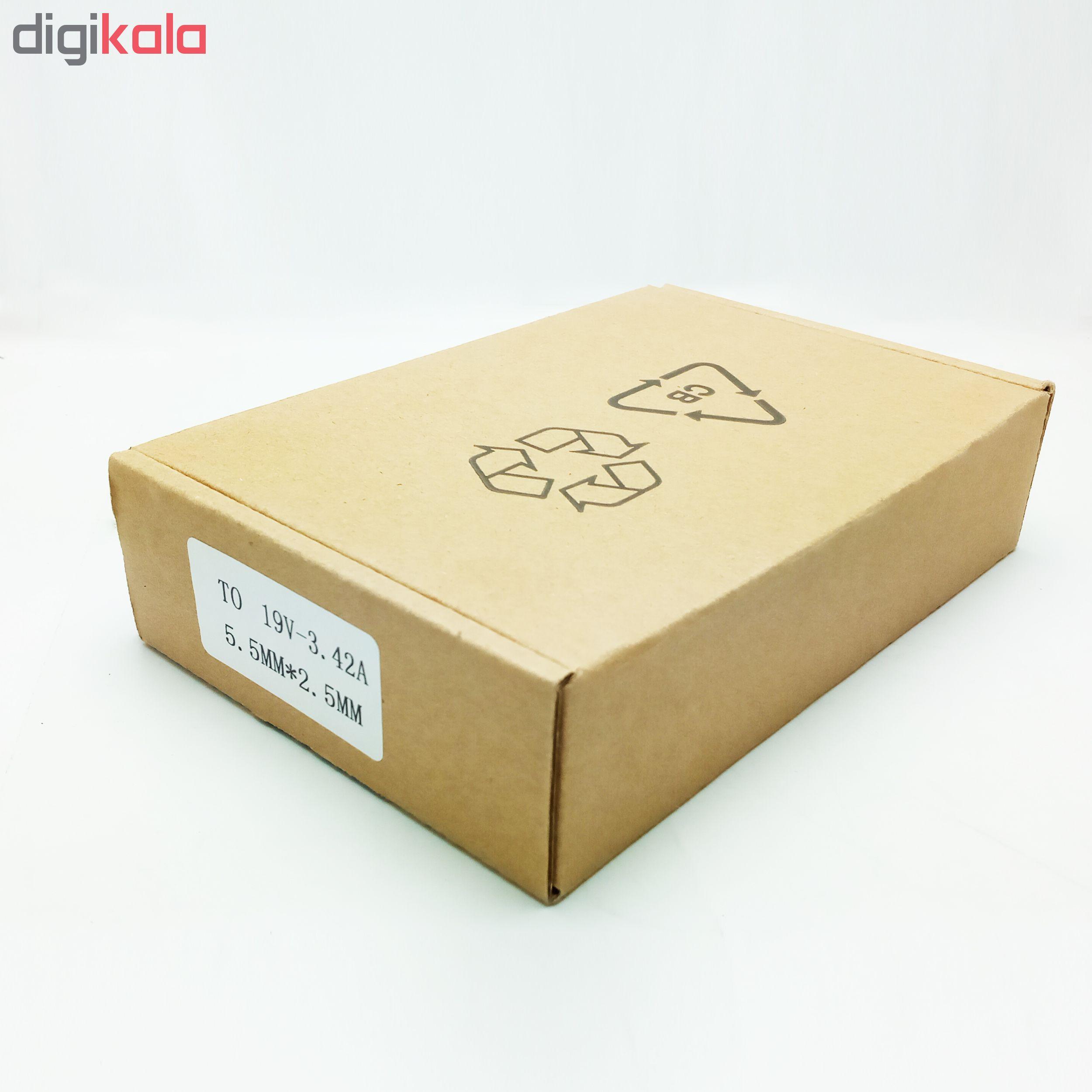 شارژر لپ تاپ 19 ولت 3.42 آمپر پاور گو مدل PWG-TO main 1 3