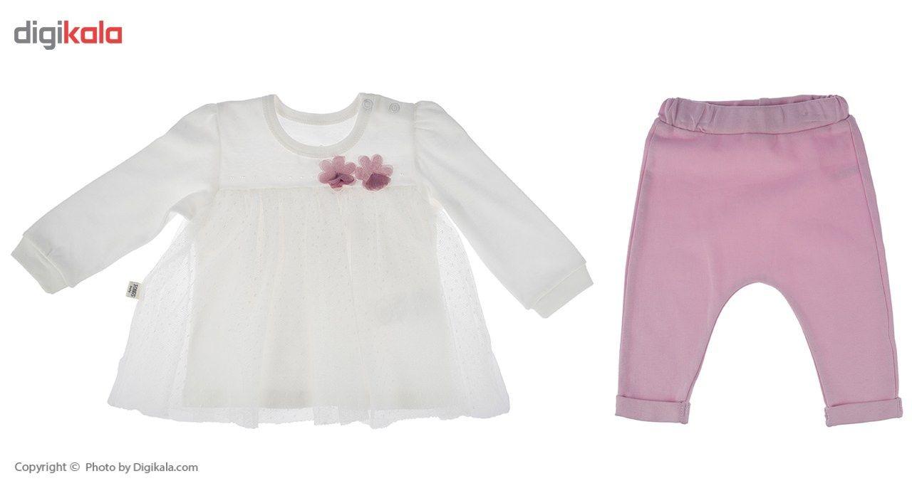 ست لباس دخترانه تونگز مدل L1028DP main 1 1