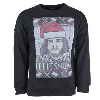 تصویر پولیور مشکی مردانه سون پی ام مدل Let It Snow Christmas