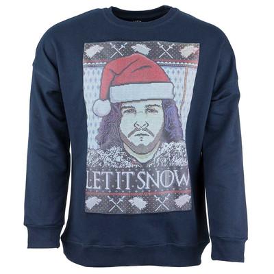 تصویر پولیور سرمه ای مردانه سون پی ام مدل Let It Snow Christmas