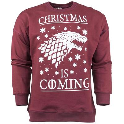 پولیور زرشکی مردانه سون پی ام مدل Christmas Is Coming