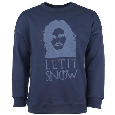 پلیور سرمه ای مردانه سون پی ام مدل Let It Snow