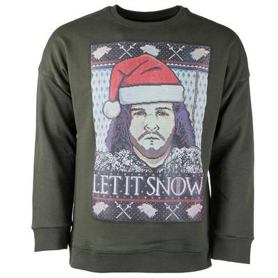 پولیور سبز مردانه سون پی ام مدل Let It Snow Christmas