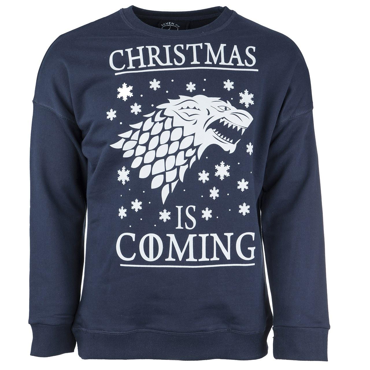 پولیور سرمه ای مردانه سون پی ام مدل Christmas Is Coming