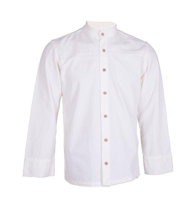 پیراهن مردانه چترفیروزه طرح جلوباز سفید کد 6 main 1 1