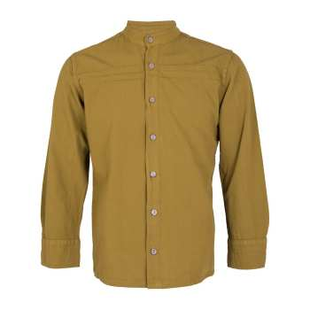 پیراهن مردانه چترفیروزه طرح جلوباز  خردلی کد 7