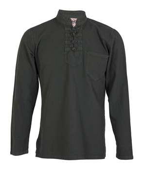 پیراهن مردانه الیاف طبیعی چترفیروزه مدل چهارگره یشمی کد 8