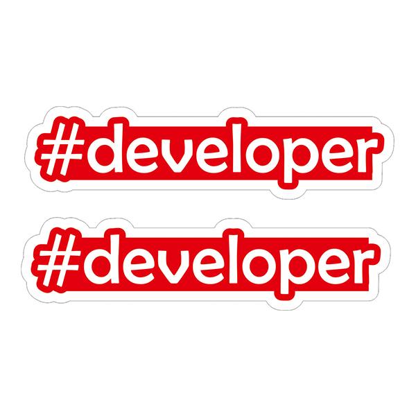 استیکر لپ تاپ  طرح Developer کد 01 بسته 2 عددی