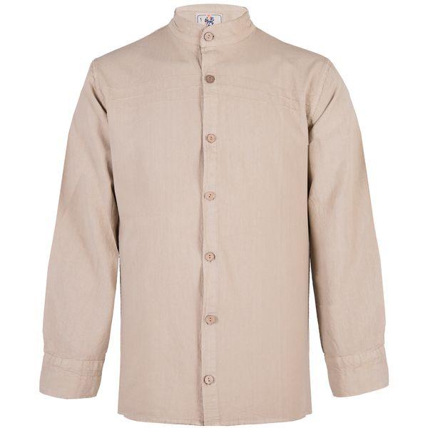پیراهن مردانه چترفیروزه مدل جلوباز کد 3