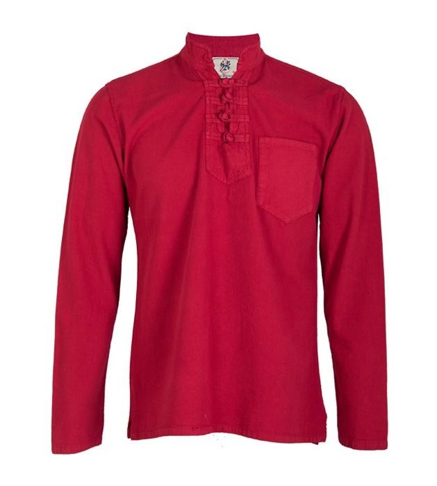 پیراهن مردانه الیاف طبیعی چترفیروزه مدل چهارگره قرمز  کد 11 main 1 1