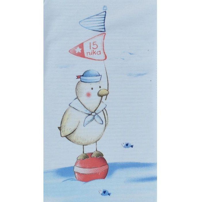 زیر دکمه دار آستین کوتاه نیروان طرح اردک زبل -  - 2