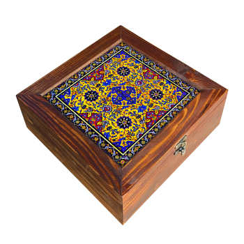 جعبه هدیه چوبی کد DG29