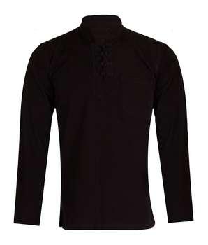 پیراهن مردانه پخش ملودی مدل چهار گره مشکی کد1