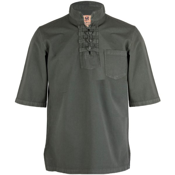 پیراهن مردانه چترفیروزه مدل چهارگره آستین کوتاه کد 6
