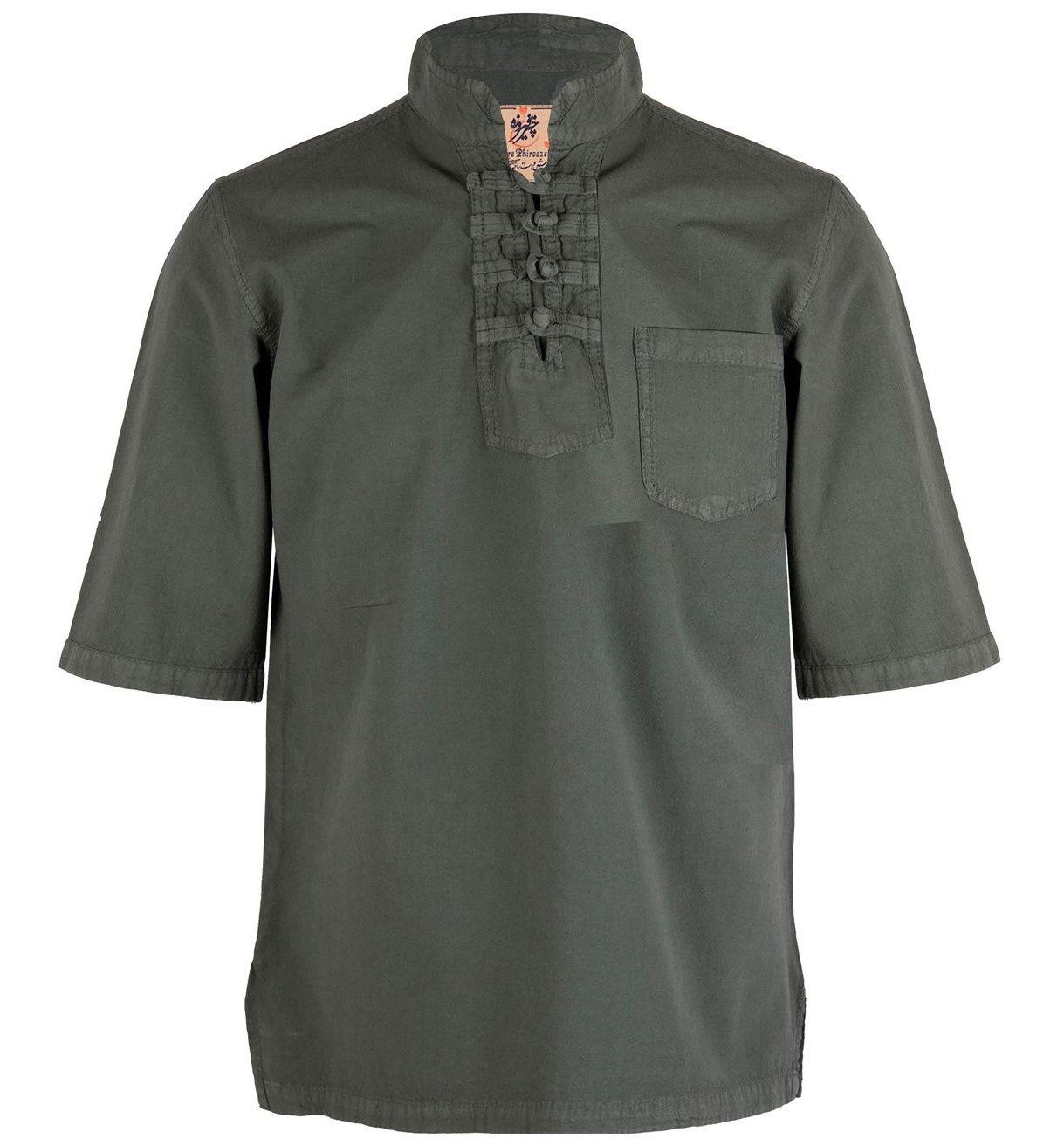 پیراهن مردانه چترفیروزه مدل چهارگره آستین کوتاه کد 6 main 1 1